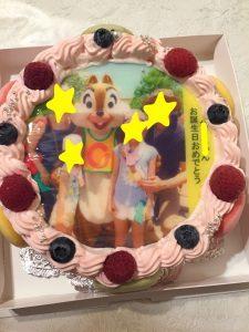 誕生日ケーキ写真